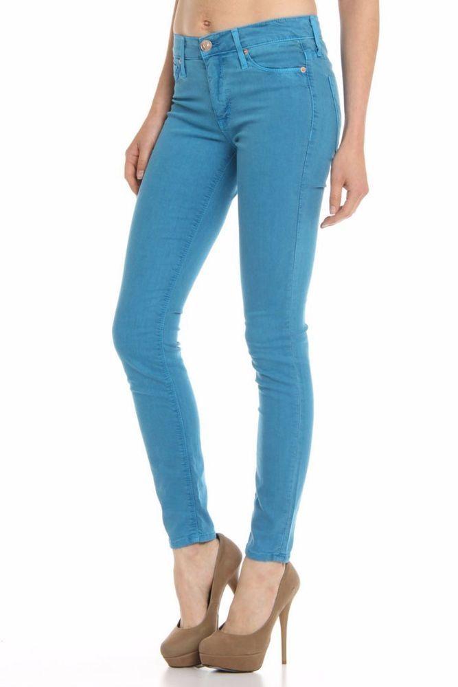$280 Hudson Nico Midrise Super Skinny Jean in Wedgewood Blue