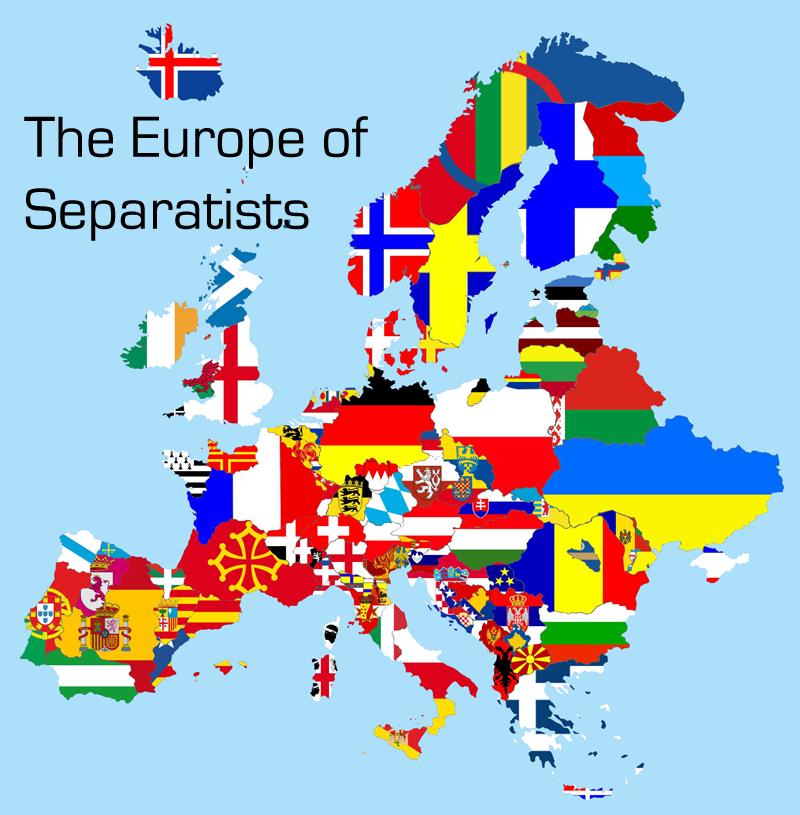 Risultati immagini per europe separatists map