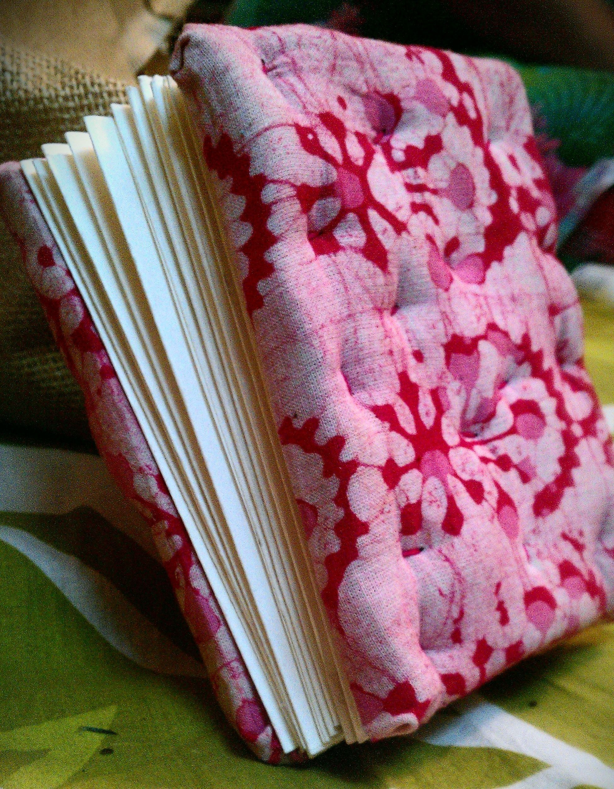 Thick padded two sided journal.. Handmade diary, Book