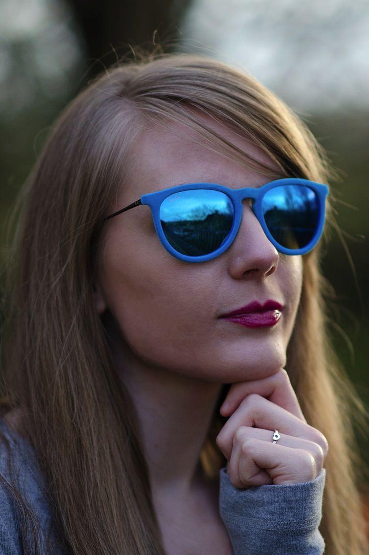 93b48ca438 New Blog Post - My New Ray-Ban Blue Velvet Erika Sunglasses http