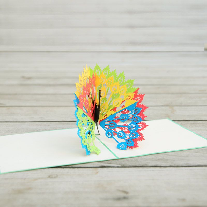 Peacock 3d Card Animal Birthday Card Pop Up Card Company Charm Pop Birthday Card Pop Up Pop Up Card Templates Origami Gifts