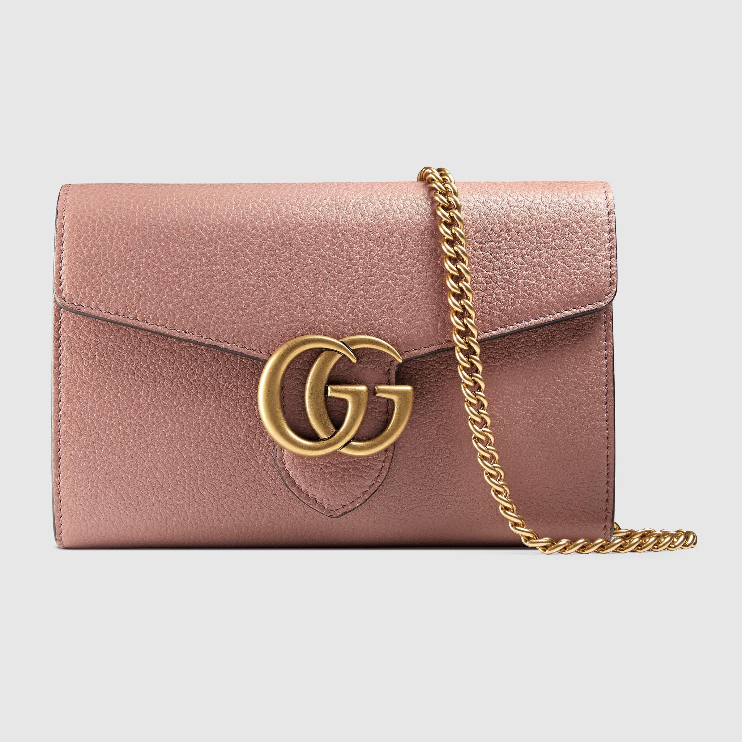 Gucci Gg Marmont Leather Mini Chain Bag ( 1 0c1f7974a1f2f