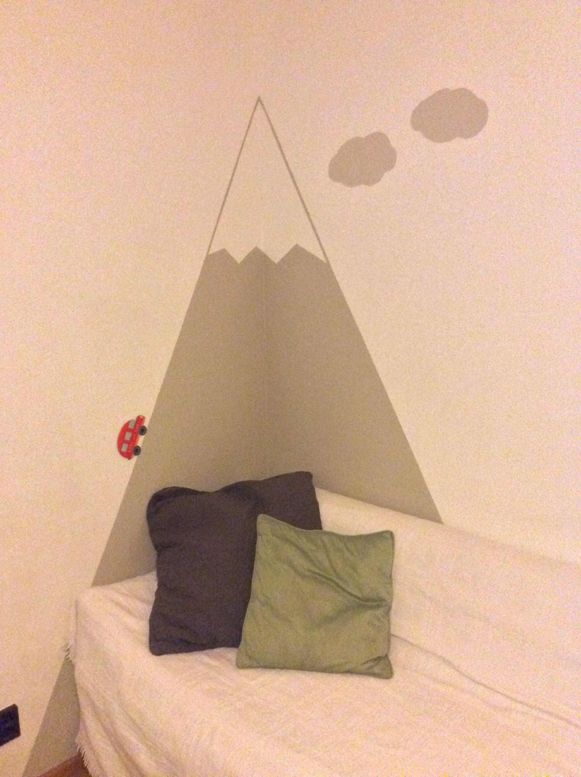 Berge - Kinderzimmer - Wandmalerei - fjällen - mountains - barnens rum