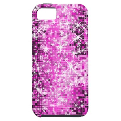 Pink Tones Sparkles Geometric Pattern iPhone 5 Cases