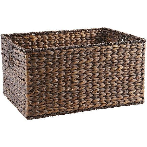 Pier One Torrance Shelf Basket - Large ($24) ❤ liked on Polyvore ...