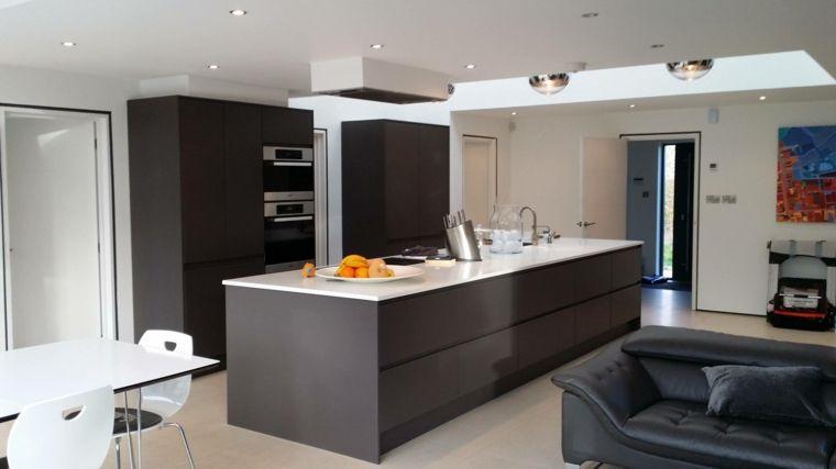 Divano Nero E Bianco : Arredamento open space moderni con grande isola grigia con top