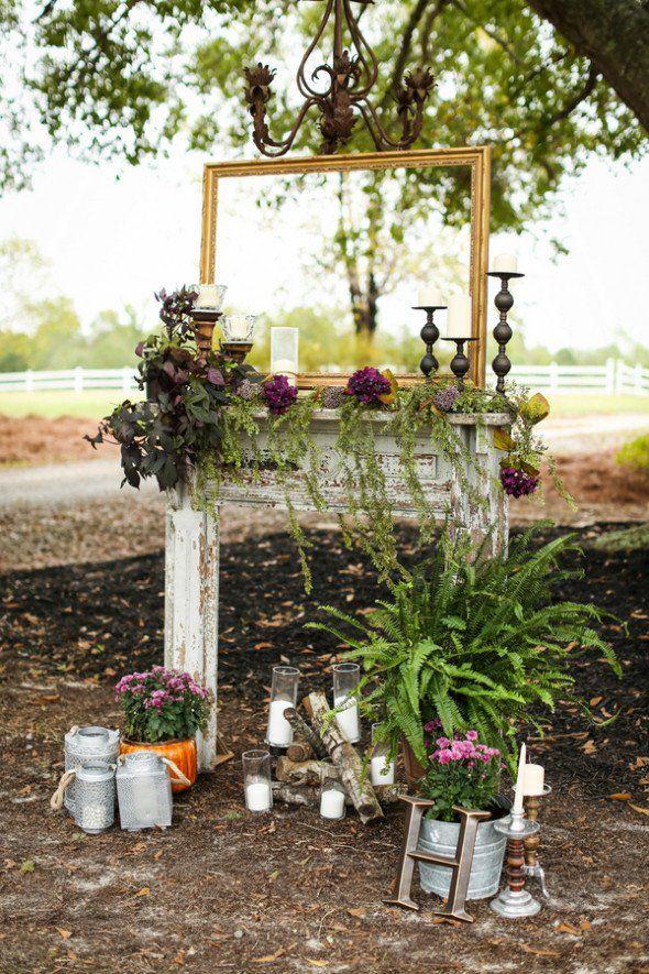 Country Rustic Alabama Barn Wedding Outdoor Wedding Backdrops