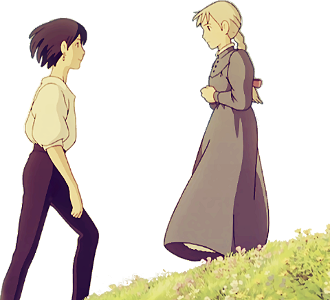 Howl Howl S Moving Castle And Sophie Image Howl And Sophie Howls Moving Castle Studio Ghibli