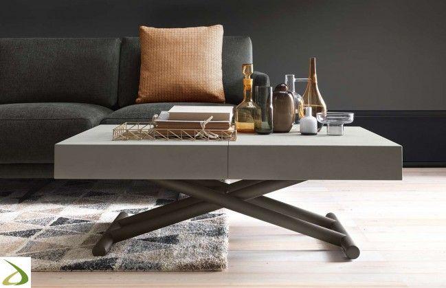 Tavolino da soggiorno rettangolare trasformabile in tavolo ...