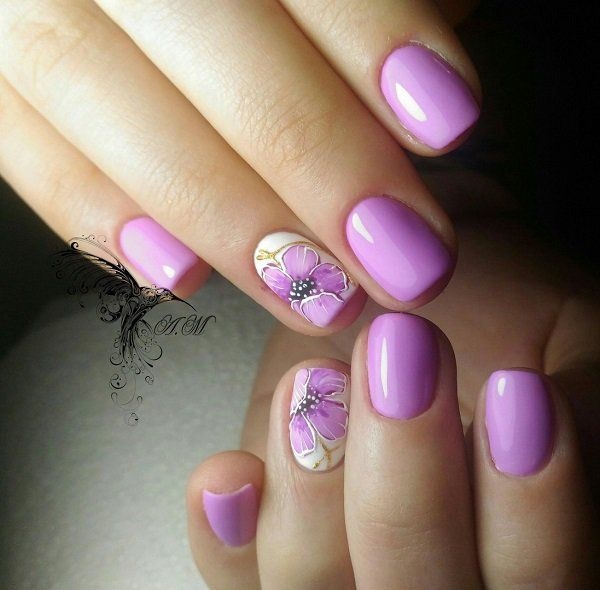 60 Trendy Ideas For Purple Nail Art Designs You Must Try ...
