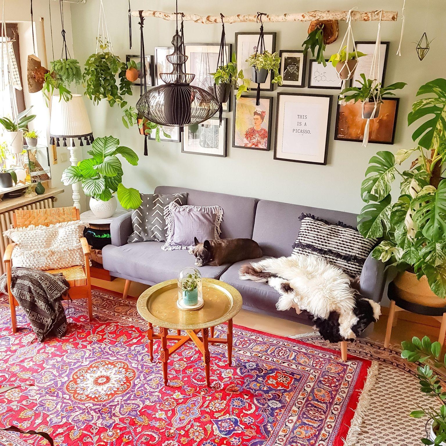 Urban Jungle meets Boho Vibe in 2020   Boho wohnzimmer ...