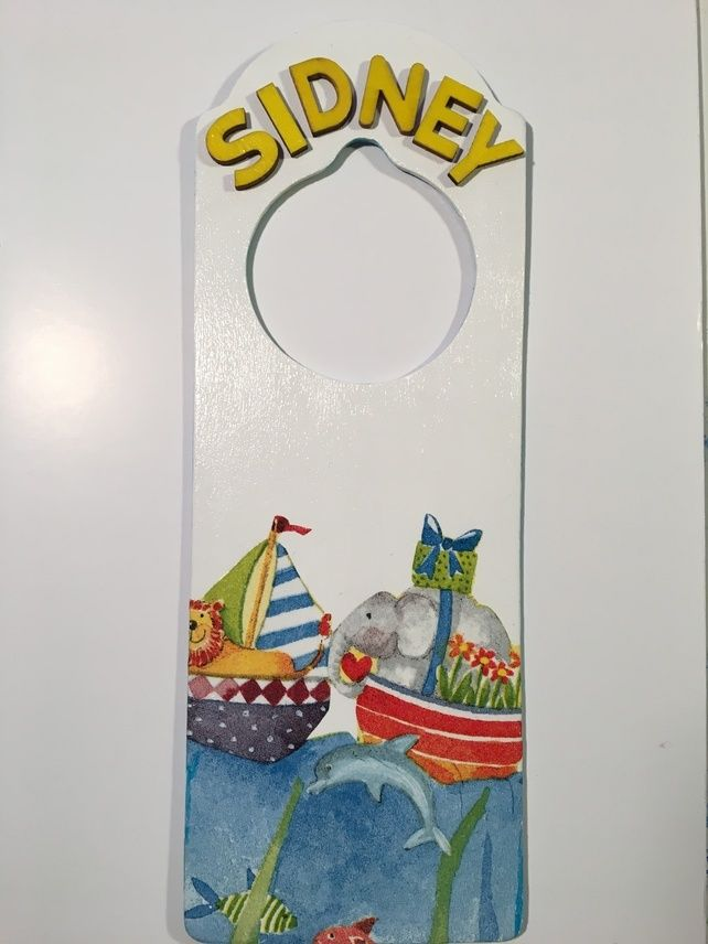 Door hanger -Lion & Elephant  £6.50