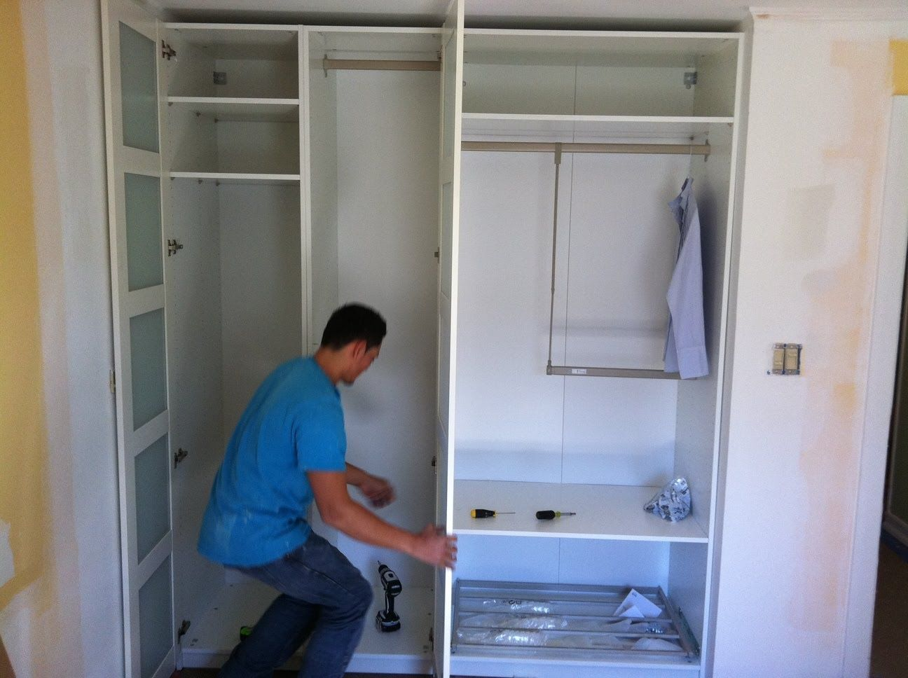 For Custom Look Closet Organization System   Insert Pre Assembled Pax  Wardrobe Frames Into The Cove