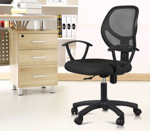 Black Ergonomic Mesh Computer Office Desk Midback Task Chair w/Nylon Base US https://t.co/BirdZhw8mY https://t.co/4yIGt6JEz3
