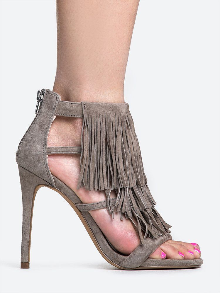 I think I need these. Steve Madden FRINGLY SANDAL