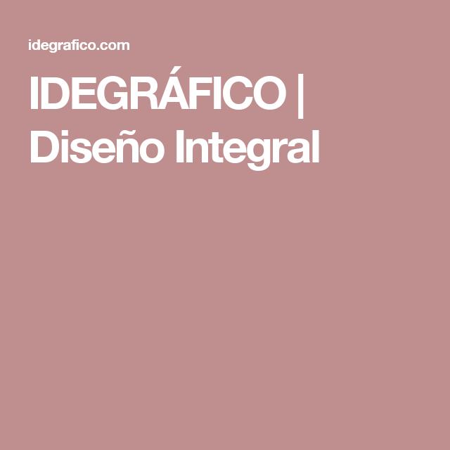 IDEGRÁFICO | Diseño Integral
