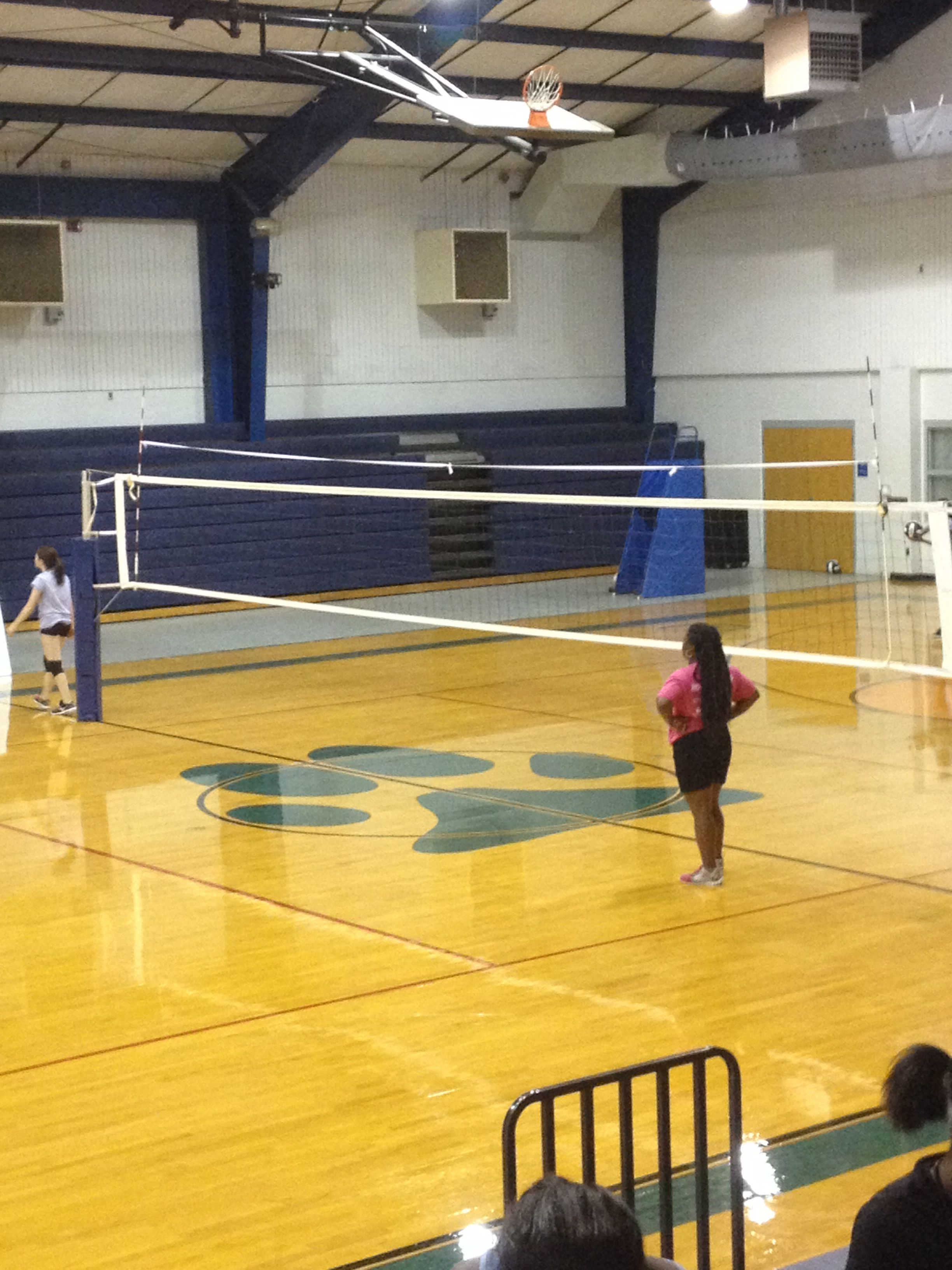 A Great Volleyball Drill Trying To Hit The Ball Between The Elastic Tied To Each Antenna Great For Practicing O Volleyball Drills Volleyball Basketball Court