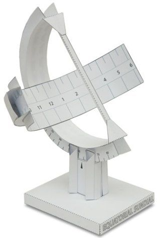 Download print out and make this elegant equatorial sundial line download print out and make this elegant equatorial sundial line it up with the northsouth line and once the sun comes out you can read the ti pronofoot35fo Choice Image