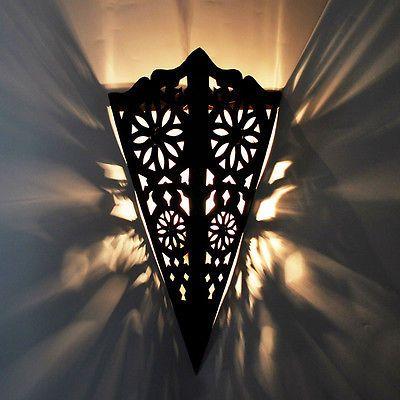 Lampe De Mur Oriental Marocaine Applique Murale Fer écran H40cm In