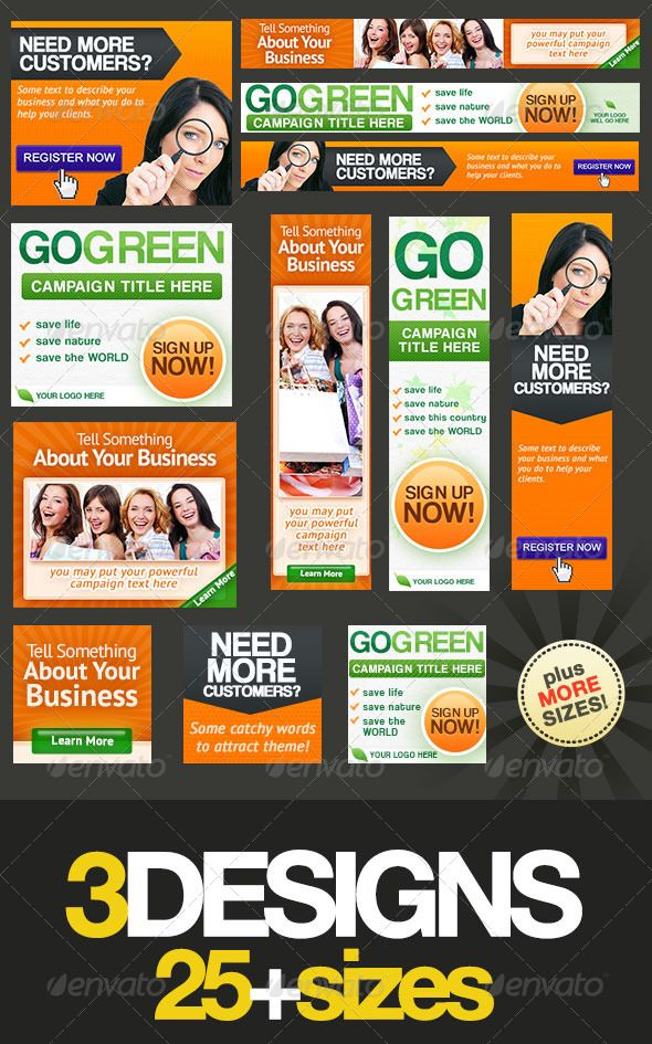 Banners Banners Are Rectagular Ads That Appear On Websites Online - Display ad templates
