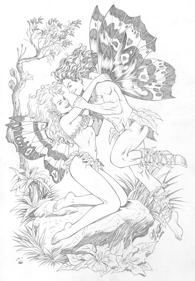 Fairy Couple | I Believe in Fairies | Pinterest