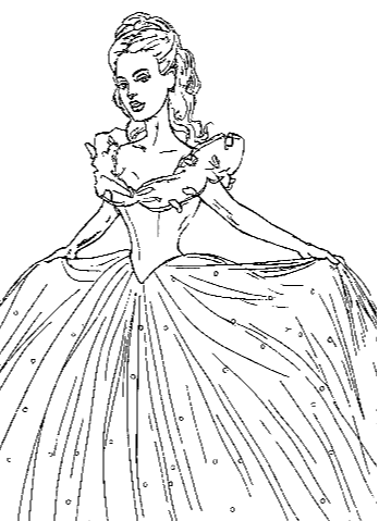 Coloring Page New Cinderella Png 348 479 Cinderella Coloring Pages Princess Coloring Pages Coloring Pages