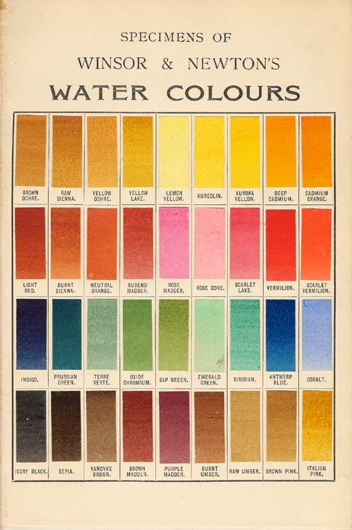Winsor And Newton Water Colours Spectrum 1910 Watercolor Color