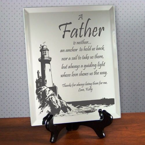 A Gift for your Father A Keepsake Plaque for your Dad