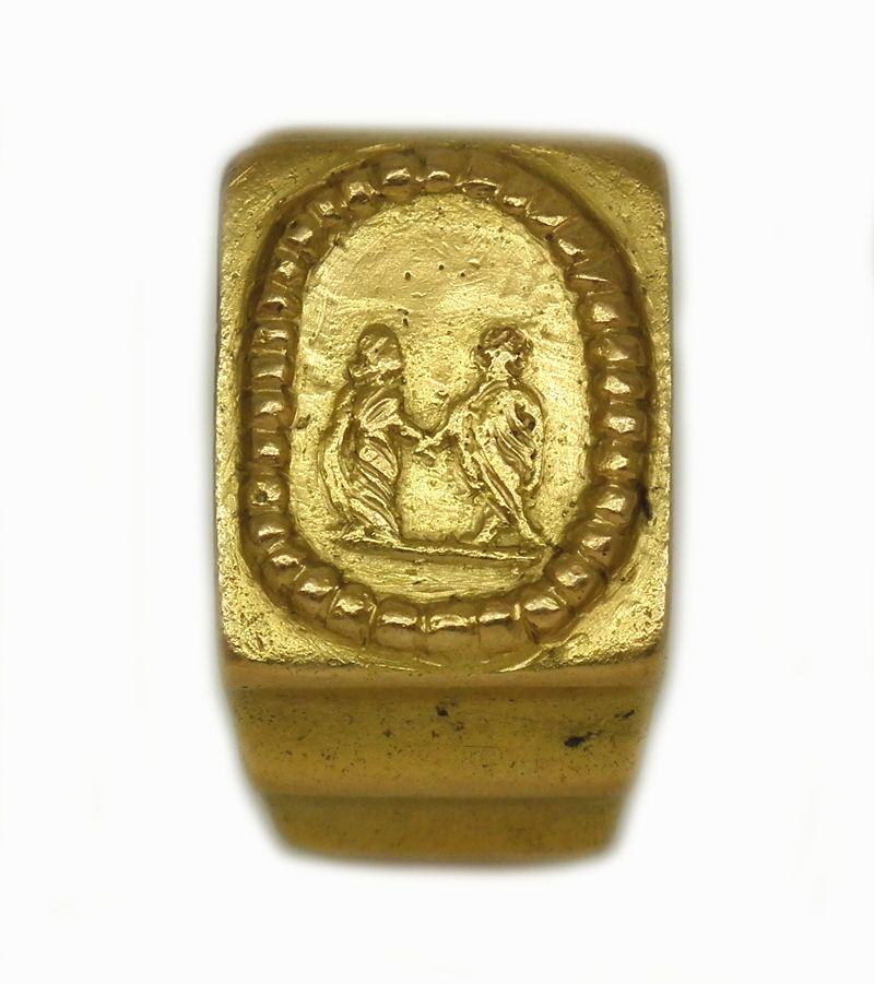 Matrimonio Romano Y Venezolano : Anillo de matrimonio romano oro segundo siglo ºº nd