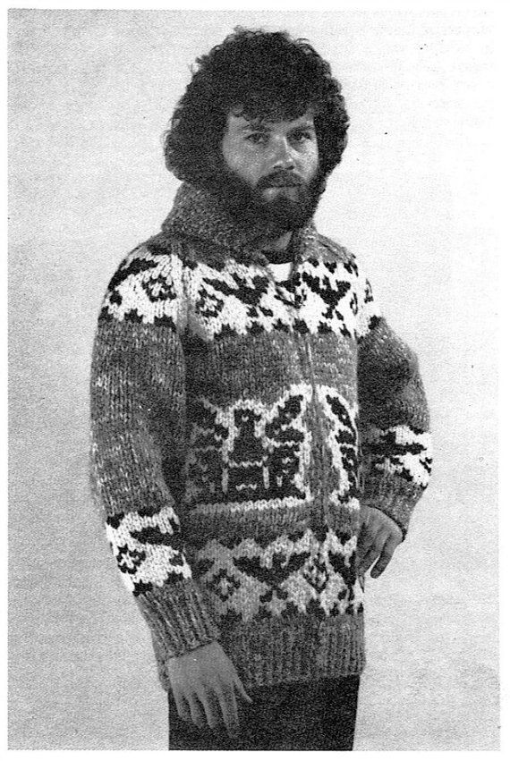fd6a9df86 Cowichan Sweater Knitting Pattern Men or Women Unisex Cardigan PDF ...