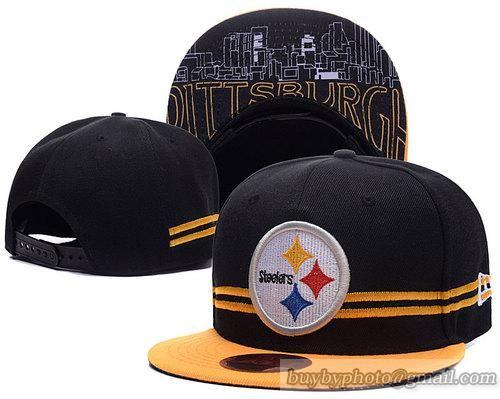 Pittsburgh Steelers Snapbacks Caps Retro Flat Hat A Stripe ... 94dbc29c2