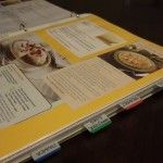 Compile and preserve your favorite recipes into a go-to binder with simple tabs and sheet protectors.  No more butter finger smudges and recipes lost to the depths of the junk drawer.