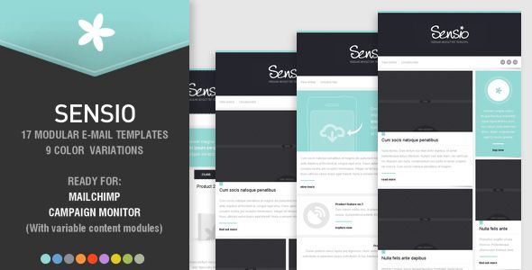 Sensio   Modular Newsletter Templates  Newsletters Email