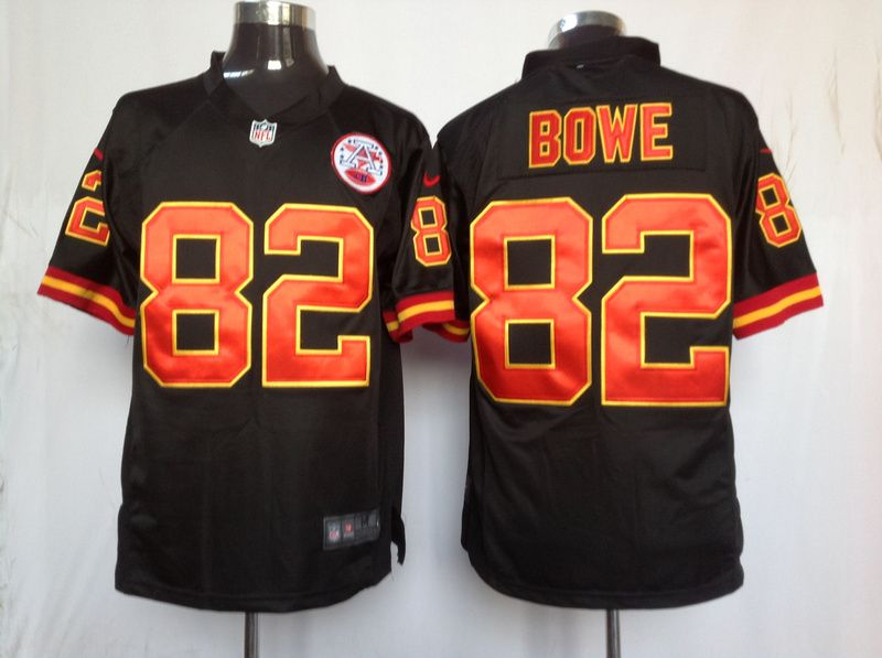4aba9f85a Men s Nike NFL Kansas City Chiefs  82 Dwayne Bowe Black Alternate Stitched Game  Jerseys