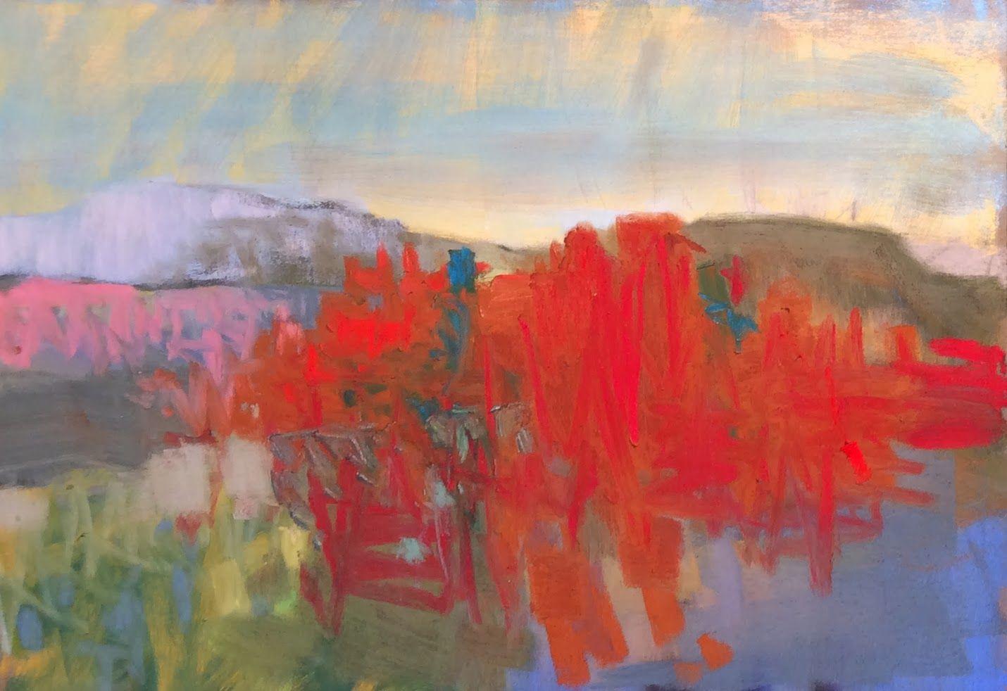 "Red Ridge North.2014. 10"" x 14.74"" Pastel Casey Klahn"