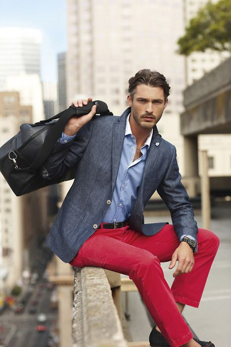 I freakin' LOVE red pants. This is a great outfit. | Men's Fashion ...