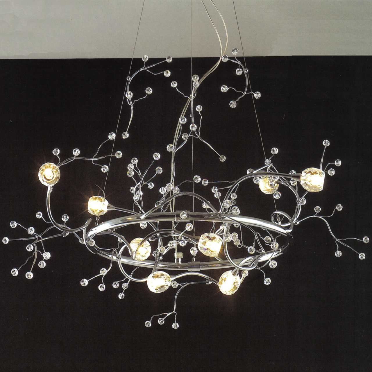 Show details for 32 albero modern crystal round branch chandelier show details for 32 albero modern crystal round branch chandelier polished chrome 8 lights arubaitofo Gallery