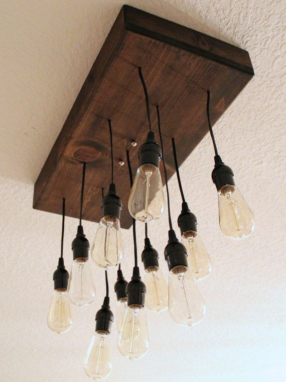 Edison Bulb Chandelier Rustic By Partyandhomedesign