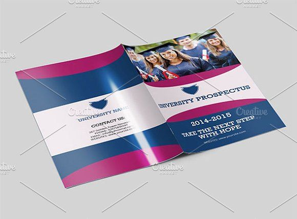 College University Prospectus V77 By Template Shop On @creativemarket