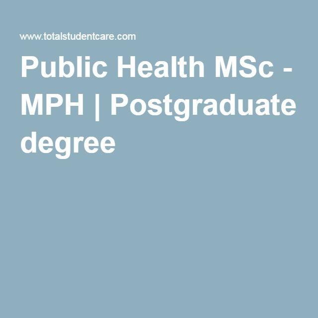 Public Health MSc - MPH   Postgraduate degree   Higher courses ...