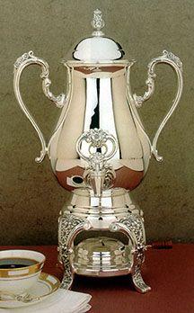 Burgundy Silver Coffee Urn Server