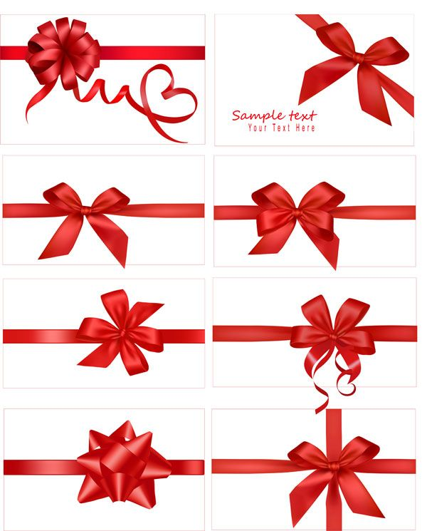 Festive gift bow vector material ribbon vector download festive gift bow vector material ribbon negle