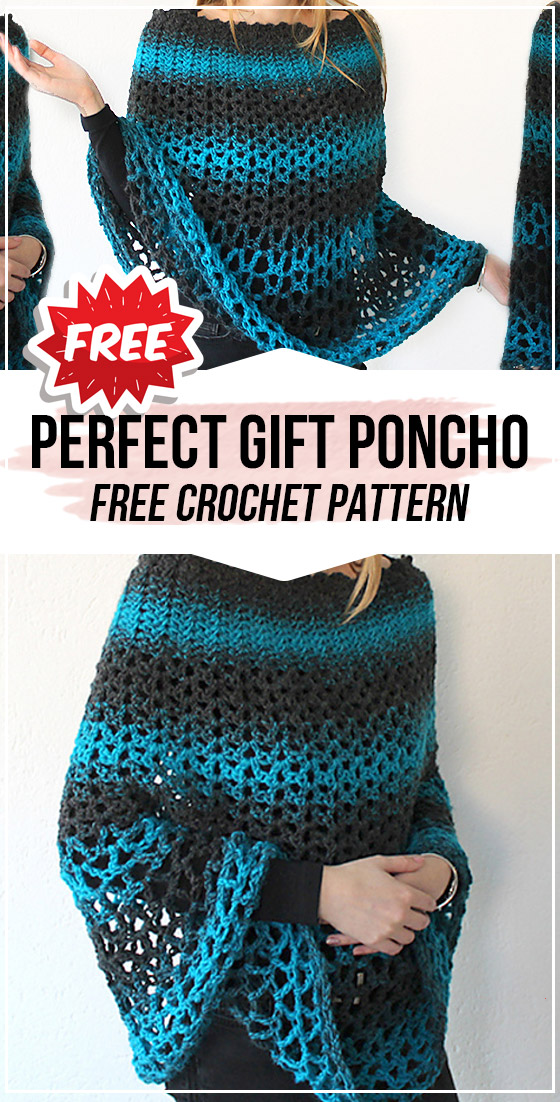crochet Perfect Gift Poncho free pattern