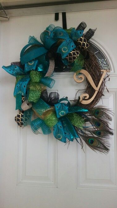 Peacock Vine Wreath by She\u0027s Crafty Too Peacock wreaths
