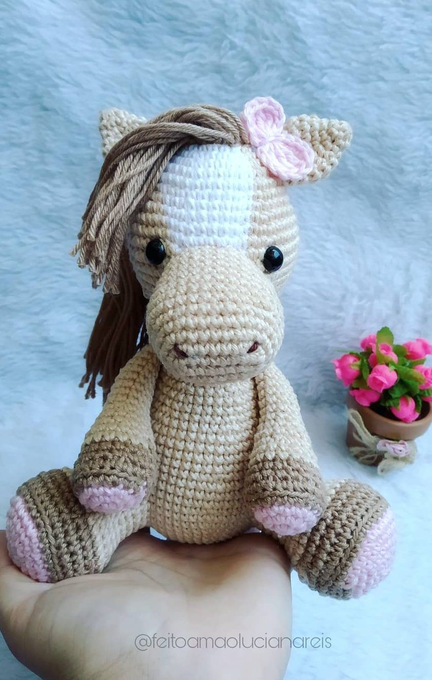 150 Best Cute Crocheted Amigurumi Patterns Ideas Pictures 141 #crochetpony