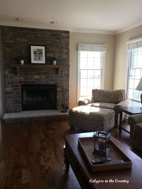 Room Family With Stone Fireplace