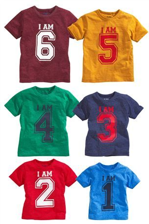 I Am 1 2 3 4 5 6 T Shirt 1 6yrs Next Kidswear