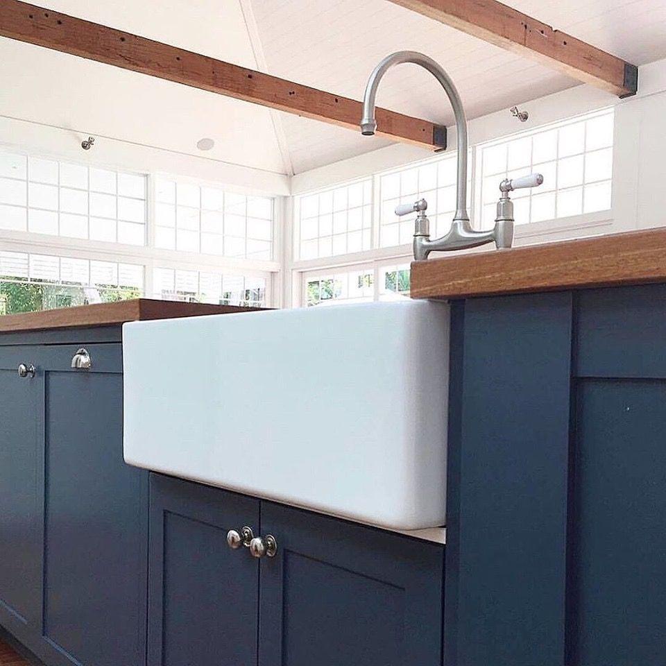 pin by julie friend on kitchen farmhouse sink timber kitchen cottage renovation on kaboodle kitchen navy id=19765