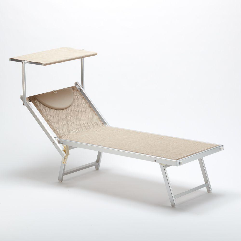 Lettino Sdraio In Alluminio.Lettino Mare Prendisole Professionale Sdraio Alluminio Spiaggia