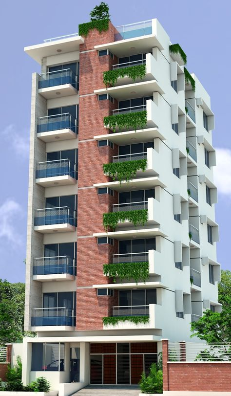 Apartment Elevation Residential 27 Ideas Facade Architecture Design Residential Building Design Apartment Architecture